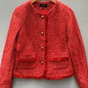 Talbots Jacket - Preppy Orange Tweed Fringe Blazer